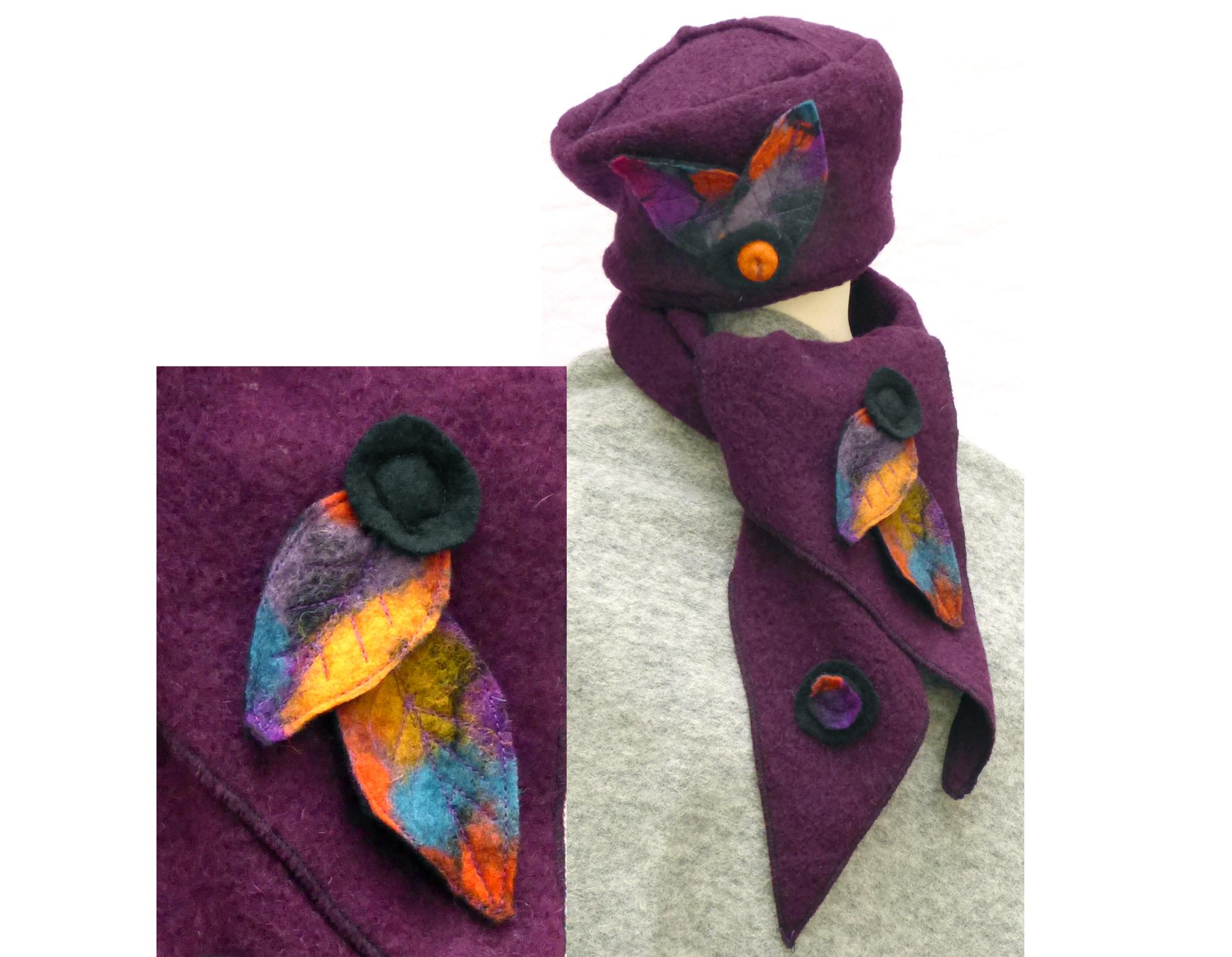 Schals und Mützen in bewährter Walkoptik