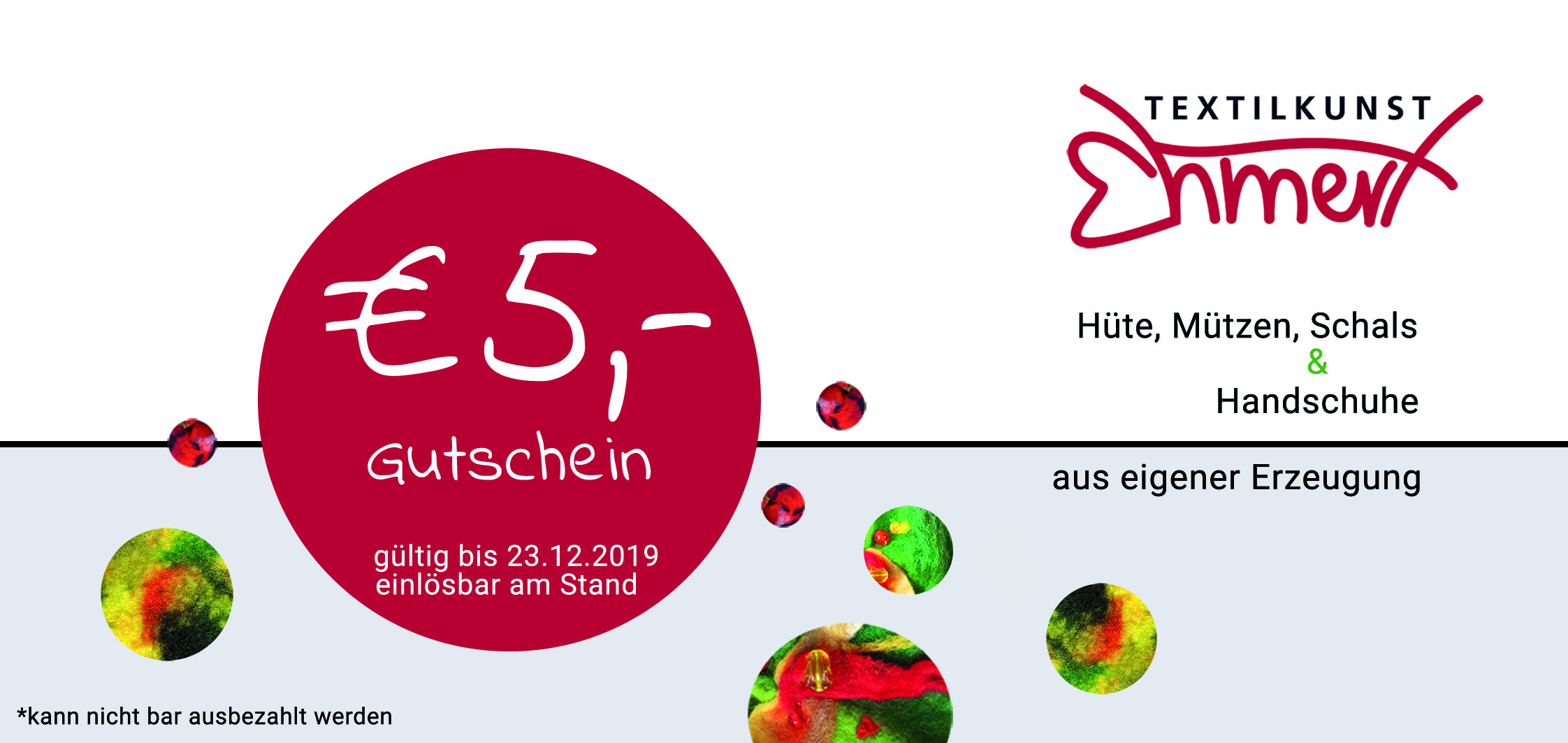 5,00 Euro Gutscheine am Stand vor der Kartlskirche