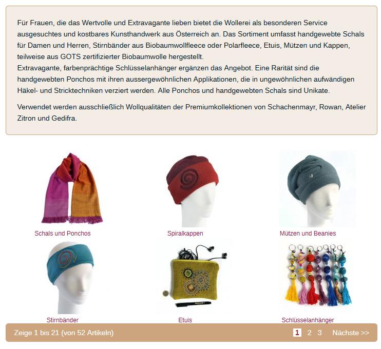 Ehmert Textilkunst exklusiv im Onlineshop der Wollerei