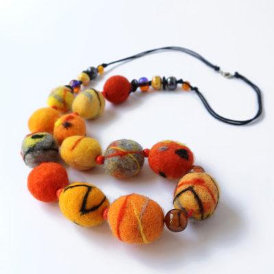 Filzkette orange