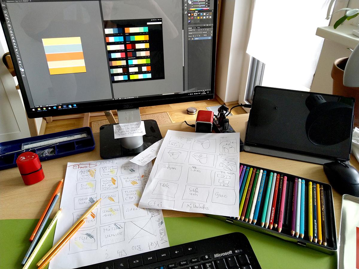 Screendesign für visuelle Hierarchie und Struktur